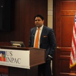 USINPAC LNG Executive Member Ankit Desai speaks at the USINPAC LNG Briefing