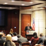 Dr. W. David Montgomery speaks at the USINPAC LNG Briefing