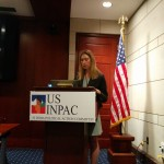 Speaker and Moderator Sandra Safro, Associate at K&L Gates at the USINPAC LNG Briefing