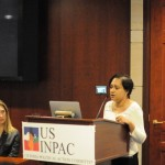 USINPAC member Sue Ghosh at the USINPAC LNG Briefing