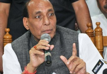 Rajnath Singh reiterates pledge to build replica of Bamiyan Buddha